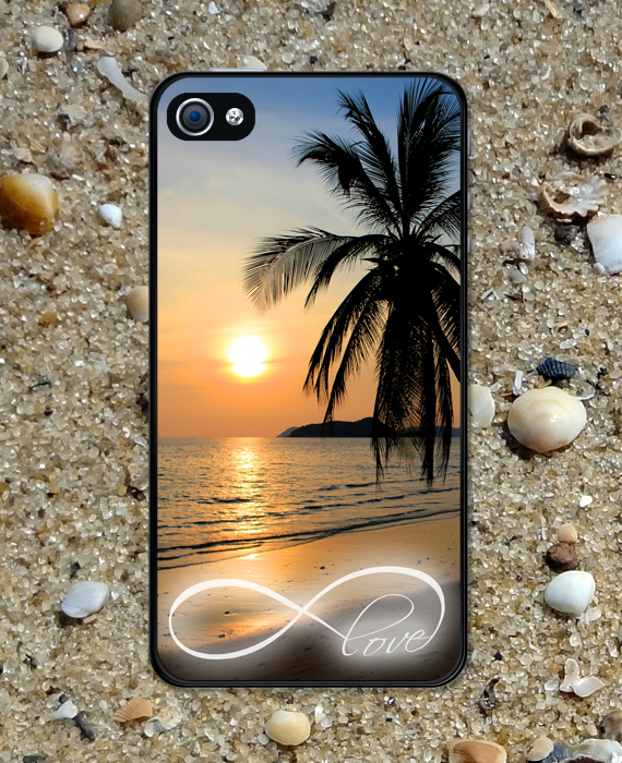 check out 2a96f 611b9 Iphone Case Infinity Love Beautiful Sunset Beach Iphone 4 Case Cool Awesome  Iphone 4s Case