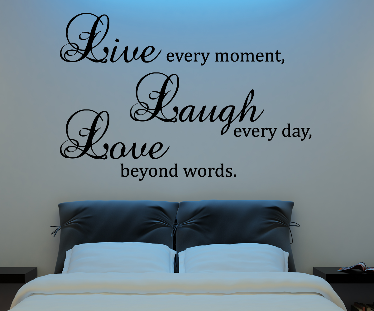 Elegant Live Laugh Love Wall Decal Vinyl Sticker Quote Art Living Room Dining Room  Decor